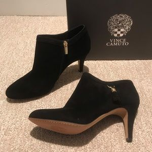 NWT Vince Camuto Black Suede Ankle Bootie - 9.5